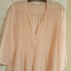 Light pink peasant top